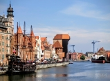 Gdansk, the view onto the old port