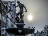 Gdansk, the Neptune statue in the Long Market (the historical city main square)