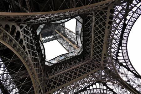 Traveling France. The Eiffel tour, Paris.