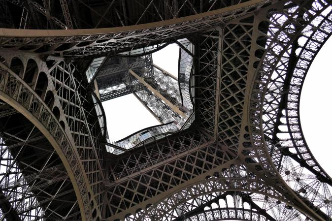 Traveling France. The Eiffel tour, Paris.