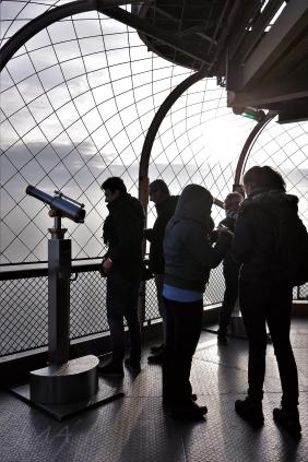 Traveling France. The Eiffel Tour. The upper level of the third floor.