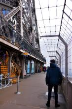 Traveling France. The Eiffel Tour. Lower level of the second floor.