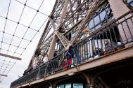Traveling France. The Eiffel Tour, lower level of the second floor.