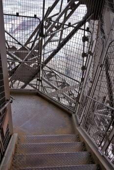 Traveling France. The Eiffel Tour, on the way downstairs.