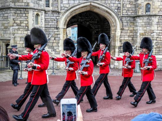 Bearskin, Guard Change at Windsor Castle, England
