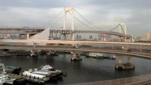 The Rainbow Bridge, Tokyo, Japan
