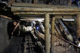 300 meters below in a coal mine, Poland.