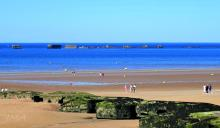Mulberry harbour at Arromanches, France