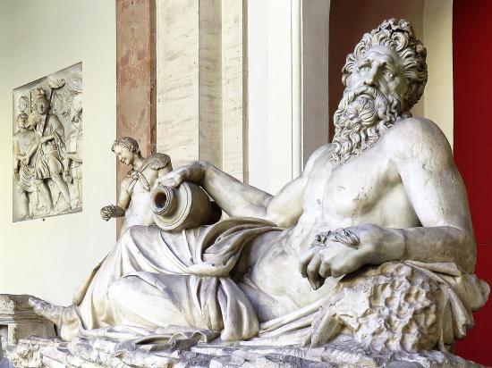 Musei Vaticani. Vatican Museums. Statue of Zeus.