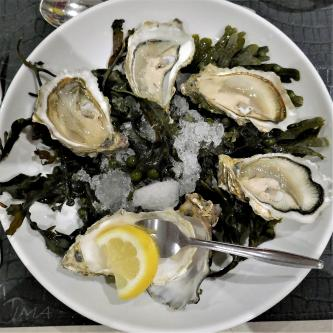 Oysters served in Rouen, France