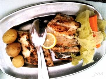 Swordfish served in Portugal