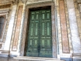 Rome, Lateran Archbasilica. An ancient door that in old times was the main entry to Curia Julia, the seat of Roman Senate