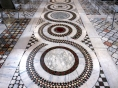 Rome, Lateran Archbasilica. The Cosmati style floor mosaics