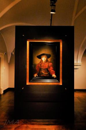 Warsaw royal castle. A Rembrandt donated by a noble family to the castle paintings collection.