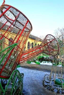 Winter decorations at the Wilanow palace, Warsaw, Poland