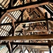 Beauvais, France. XVI century carpentry supporting a roof of a building, formerly a grand hall, today converted into a museum.