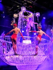 Paris, Champs Elysees, a burlesque show in Lido.