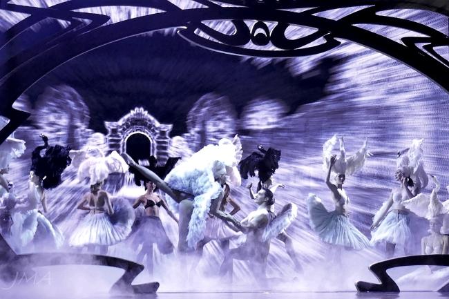 A burlesque show in Lido, Paris