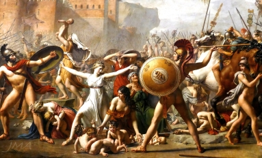 The Intervention of the Sabine Women by Jacques-Louis David