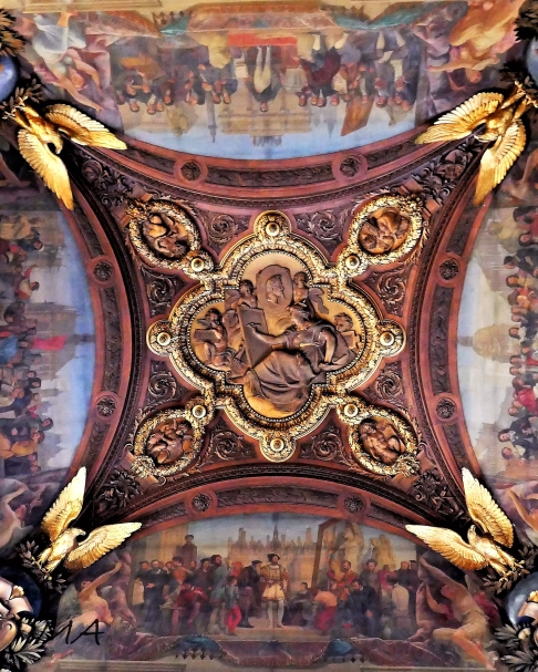 A ceiling decoration