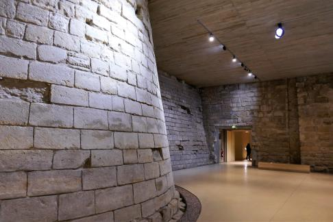 Old castle walls, today in the basement