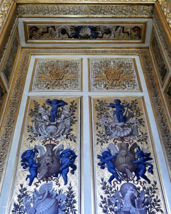 A door in the ballroom