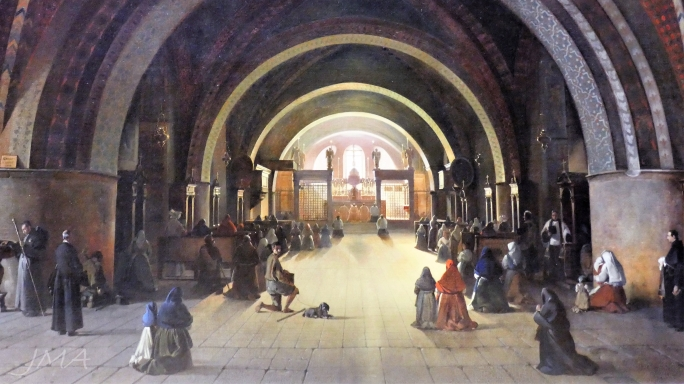 The Lower Basilica of Saint Francis in Assissi by François-Marius Granet
