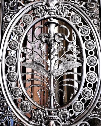 A gate to the ballroom