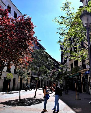 Streets of Madrid, Spain.
