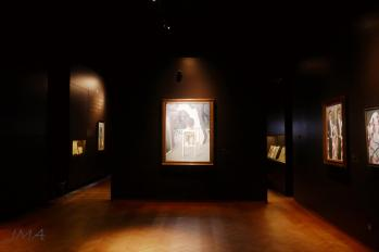 Inside the art gallery devoted to the Belgian surrealist René Magritte, Brussels, Belgium.