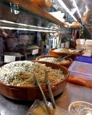 Spanish food. Delicious appetizers / tapas at Mercado de San Miguel in Madrid, Spain.