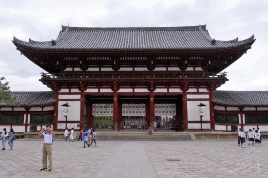 The Tōdai-ji temple complex in Nara, Japan.
