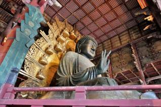 The Great Buddha in the Tōdai-ji temple complex in Nara, Japan