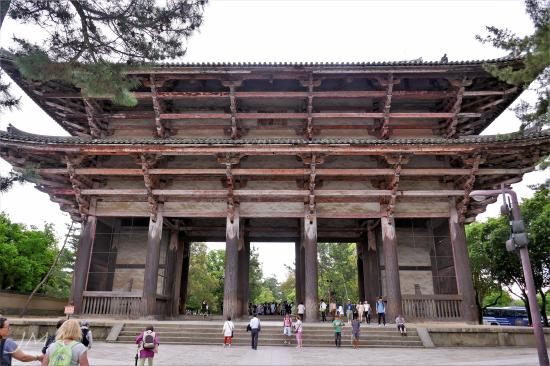 The Great Southern Gate to the Tōdai-ji temple complex in Nara, Japan.