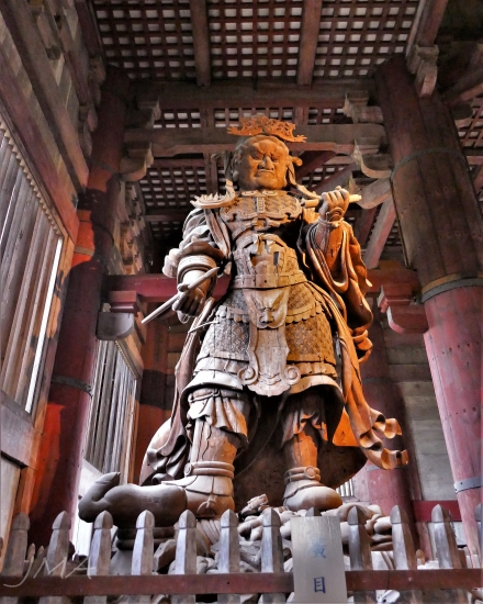 Komokuten, a statue in the Great Buddha Hall in the Tōdai-ji temple complex in Nara, Japan.