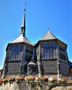 Traveling France. The church of Saint Catherine of Alexandria in Honfleur, France