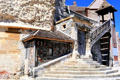 Traveling France. The renewed old dock building in the old port of Honfleur, France