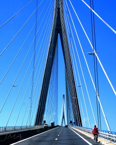 Traveling France. Honfleur bridge.