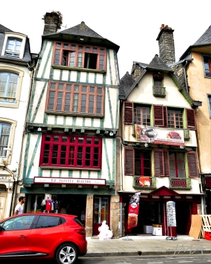 France, Normandy & Brittany, half timbered houses