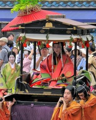 Seen during the Aoi Matsuri festival in Kyoto