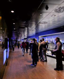 At Santiago Bernabeu - the Real Madrid fan zone