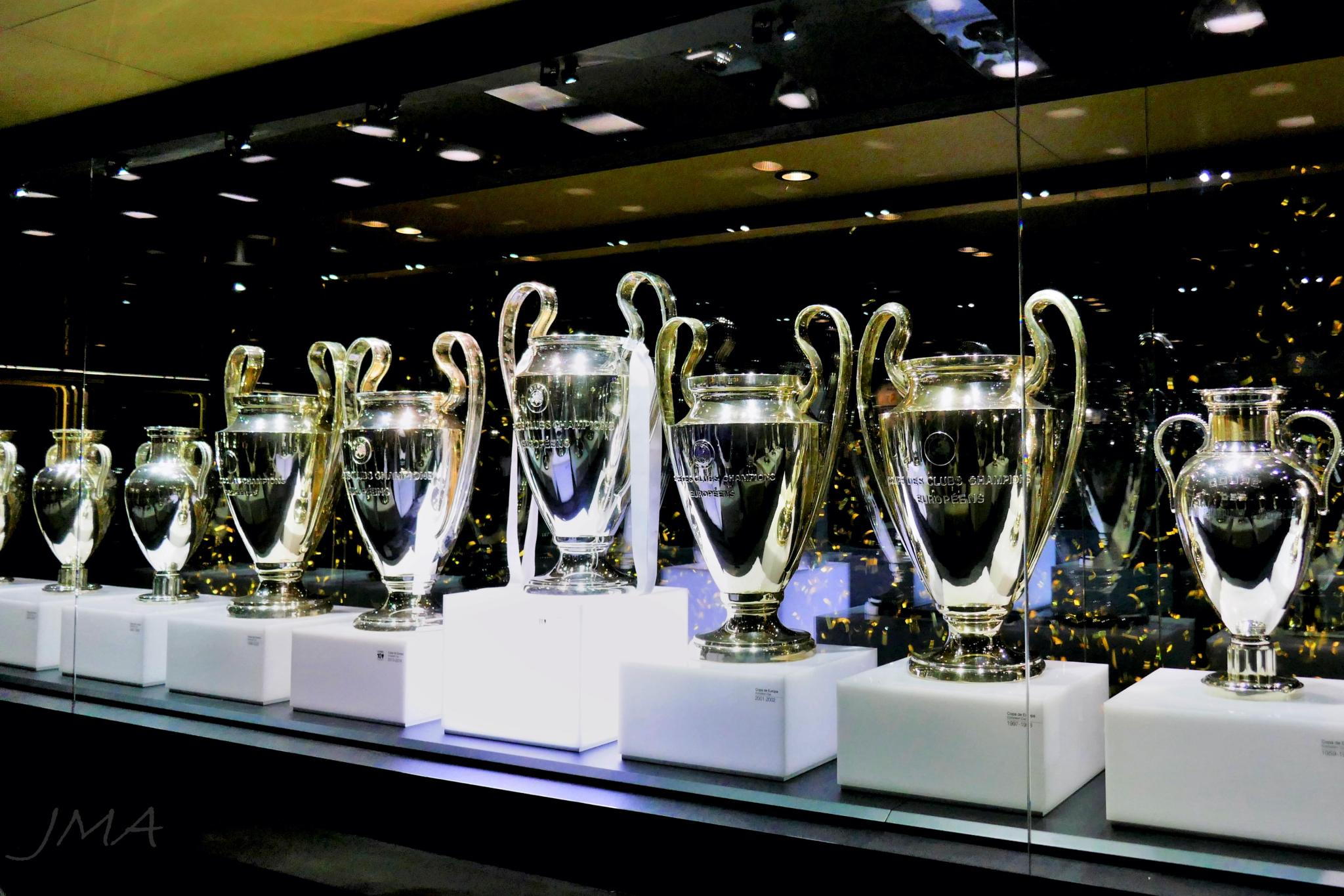 Santiago Bernabeu. At the Real Madrid fan zone, Madrid, Spain