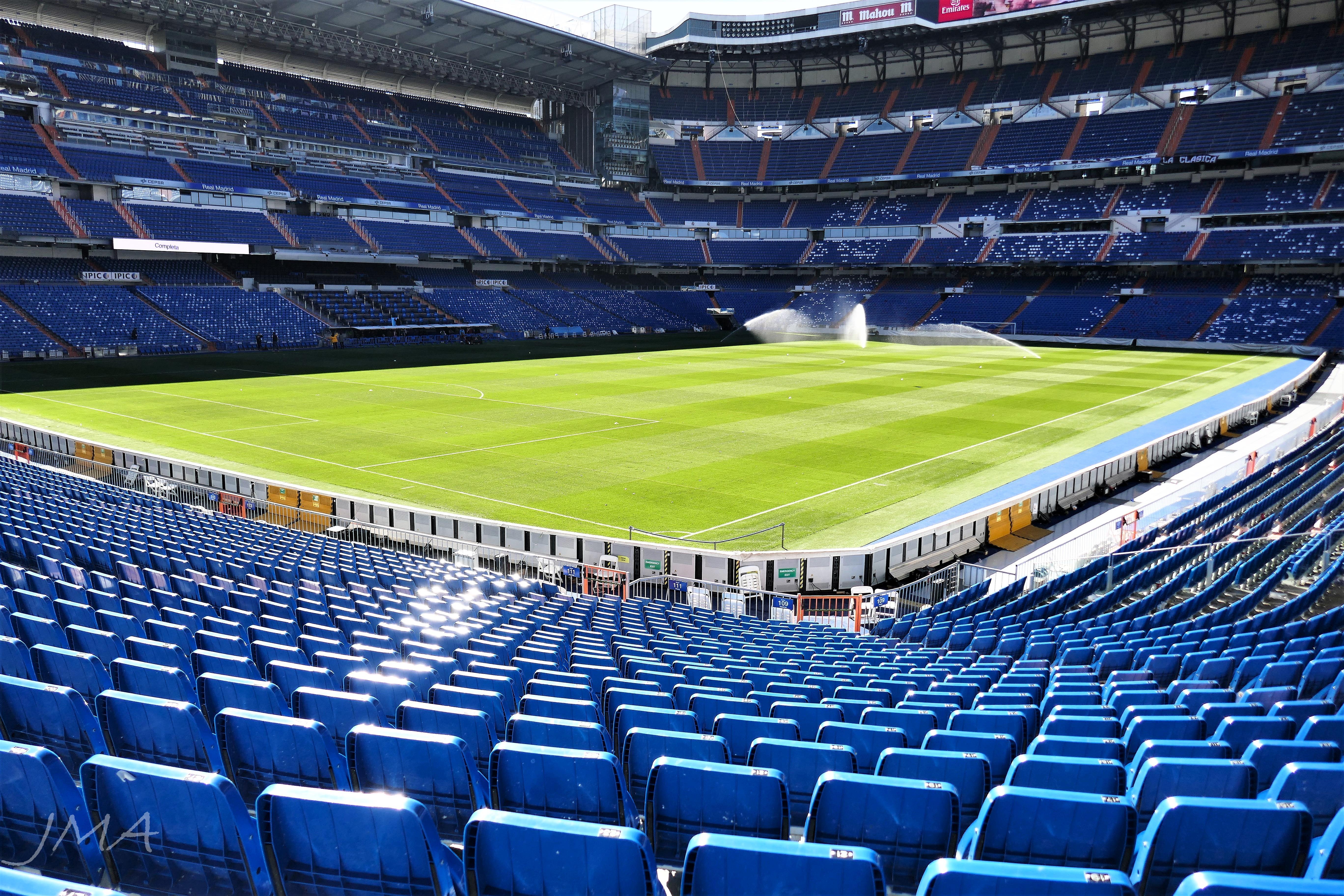 Santiago Bernabeu. At the Real Madrid stadium, Madrid, Spain