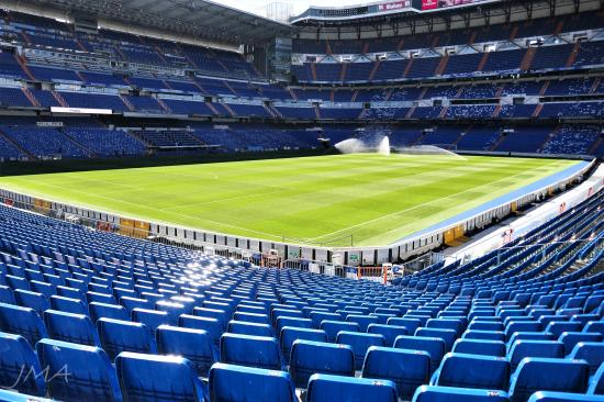Santiago Bernabeu. At the Real Madrid stadium, Madrid, Spain