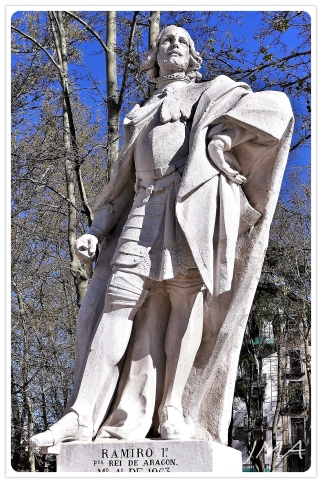 Statues of the Gothic kings at the royal Palace in Madrid, Spain