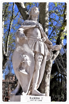 The Gothic kings at Plaza de Oriente in Madrid, Spain