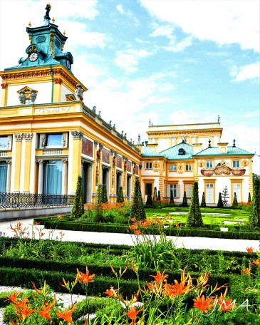 In the gardens of the Wilanow palace, Warsaw, Poland