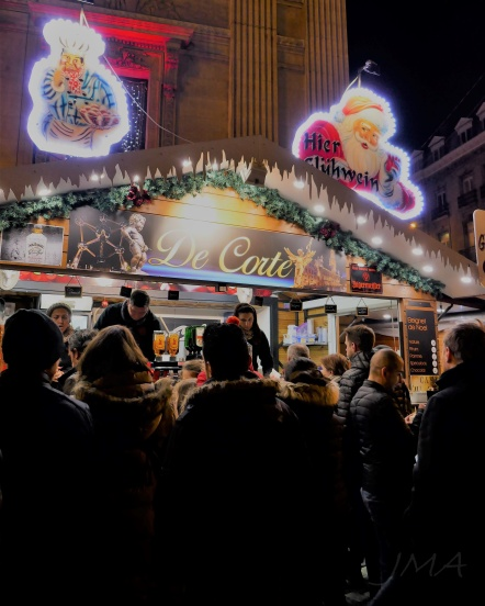 At a Christmas market in Brussels, Belgium