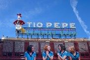 A famous commercial at Puerta del Sol