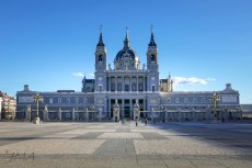 The Almudena cathedral – the view from vis a vis the Royal Palace (from Plaza de la Armería). Although it looks alike – it is not the main entrance door.